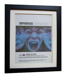 SUPERGRASS-I-Should-Coco-POSTER-AD-RARE-ORIGINAL-1995-FRAMED-EXPRESS-GLOBAL-SHIP