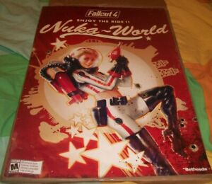 Fallout 4 Logo Nuka World Map Double Sided Promo Preorder Video