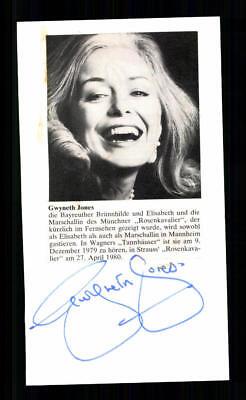 Treu Gwyneth Jones Original Signiert # Bc 127169 Sammeln & Seltenes