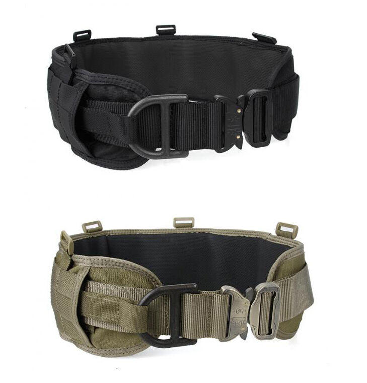 Cinturón de estilo Acolchado Táctico Molle batalla de combate pesado deber Cinturón Ajustable
