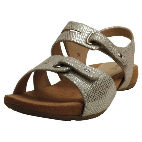 Caprice Damen-Sandalen silber Weite G