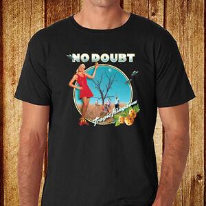 New-NO-DOUBT-Tragic-Kingdom-American-Logo-Men-039-s-Black-T-Shirt-Size-S-3XL