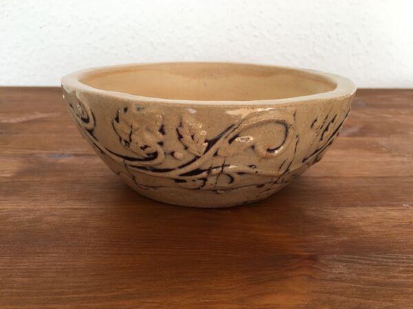 Obstschale Schale Steckschale Blumenschale Keramik 18,5 cm