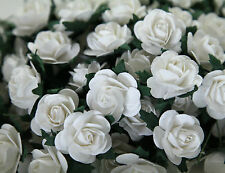 "100! Large Handmade Mulberry Paper Roses - 20MM/0.75"" - Beautiful White Rose!"