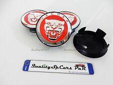 4 COPRIMOZZO 59MM JAGUAR -XJ XJR XJ6 XF X S Type Wheel Center Caps HUB CAP Red