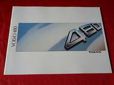 VOLVO 480 ES + Turbo Prospekt von 1988