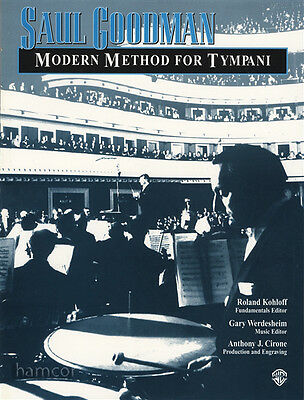 Saul Goodman Modern Method for Tympani Learn How to Play Timpani Music Book