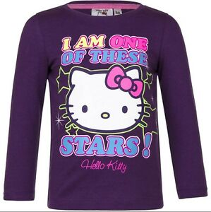 TEE-SHIRT-manches-longues-HELLO-KITTY-6-ans-violet-KITTY-Enfant-NEUF