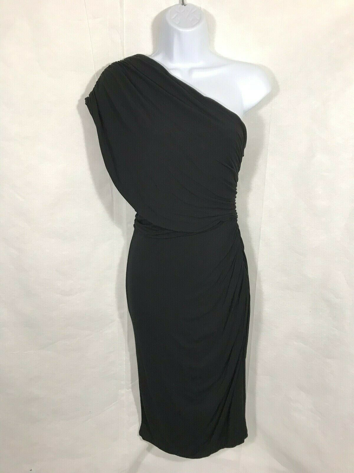 NWT Plenty by Tracy Reese Anthropologie Dropped One Shoulder Fitted Dress Size S