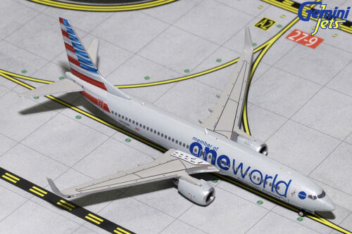 W 1:400 GJAAL1734 IN STOCK GEMINI JETS AMERICAN AIRLINES ONEWORLD  B737-800