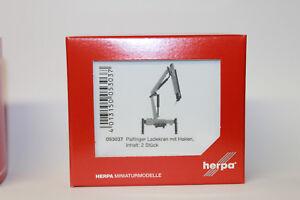 HERPA-053037-palfinger-ladekran-avec-2-crochets-1-87-h0-NEUF-avec-emballage-d-039-origine
