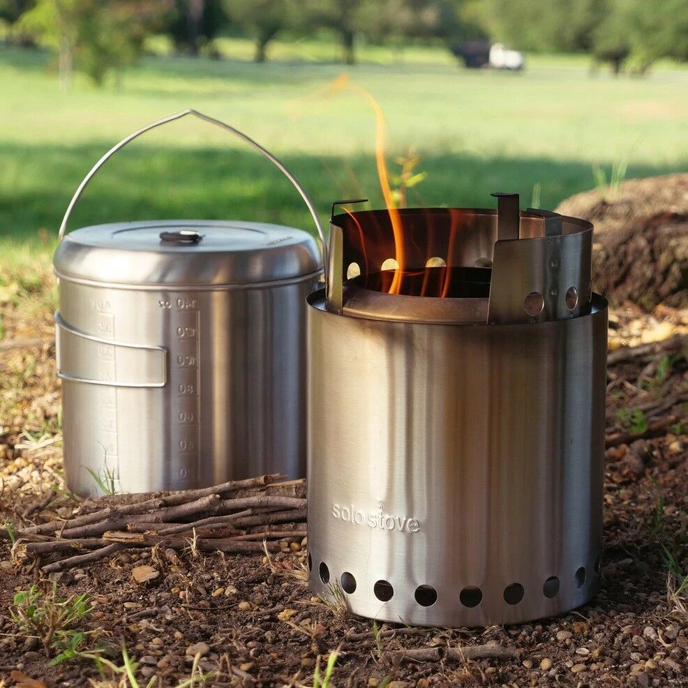 CAMPFIRE by Solo Stove NEWEST Kit twig burning gasifier Jumbo Stove & Pot 4000 ☦