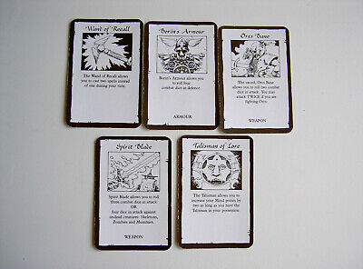 #44 Carte Heroquest Quest Treasure X 5 Completo Games Workshop Mb Games 1990- Lieve E Dolce