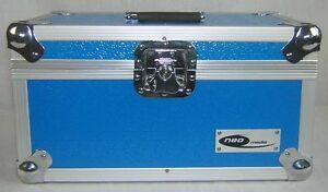 1-X-NEO-Aluminum-Blue-Vinyl-7-034-Storage-for-200-Records-Singles-DJ-carry-Case
