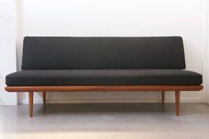 1960s Teak Peter Hvidt Original Midcentury Modern Minerva Sofa Daybed