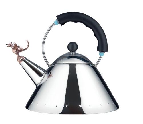 Tea Rex Bouilloire Reptile Sifflet Manche Noir Alessi 9093REX B