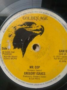 Gregory-Isaacs-Mr-Cop-7-034-Vinyl-Single-1977-UK-ROOTS-REGGAE