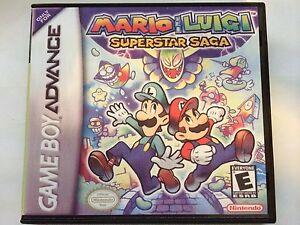 mario and luigi superstar saga gba replacement case no game ebay