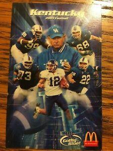 2003 University of Kentucky Wildcats Football Pocket ...