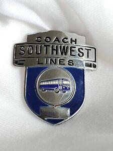 VINTAGE-SOUTHWEST-COACH-LINES-BUS-DRIVER-CAP-BADGE