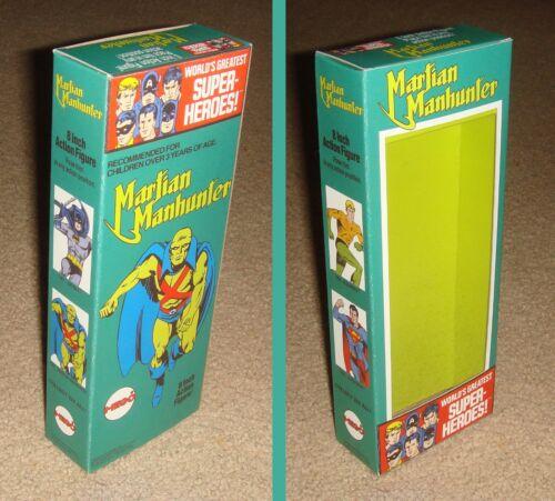 "MEGO 8/"" MARTIAN MANHUNTER CUSTOM BOX ONLY"