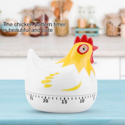 Cute Hen Shape Kitchen Cooking Timer Mechanical Countdown Clock Alarm Reminder