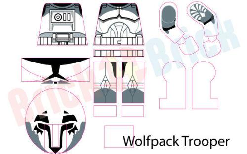 Lego Star Wars Clone Wolfpack Trooper Custom Water Slide Decal