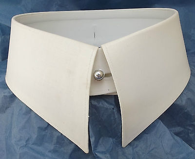 Vintage stiff collars size 14 Edwardian STUDESI patent stud holes UNUSED antique