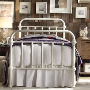 Image Is Loading Twin Antique White Victorian Iron Metal Beds Bed