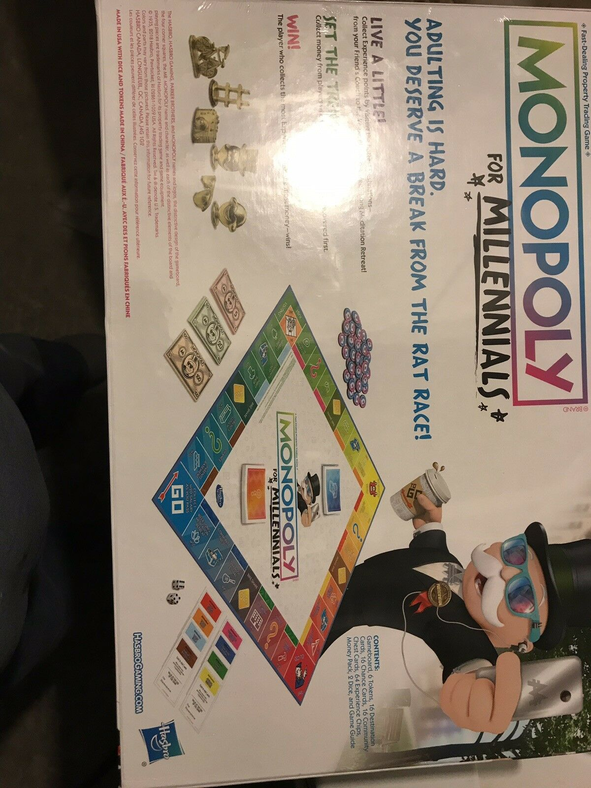 MONOPOLY FOR MILLENNIALS Brand Nuovo Unopened