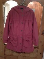 Gap Pink Hooded Cotton Coat Age 8-9 Years *L1