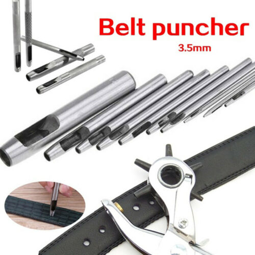BT/_ 1Pc 3.5mm Steel Hollow Leather Belt Round Hole Puncher Punch Drilling Tool C