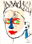 Queen-Elizabeth-Original-Painting-over-1927-Bourdelle-Drawing-Art-Neal-Turner thumbnail 1