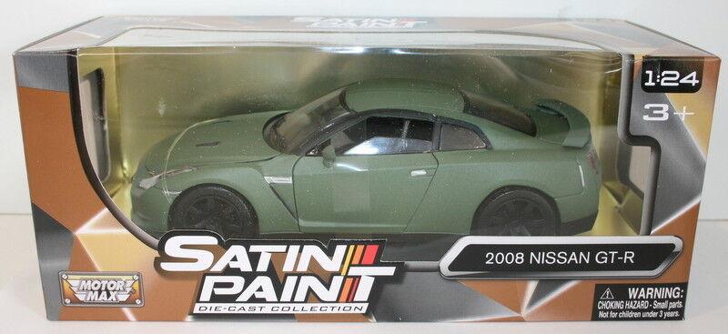 Motormax 1 24 Scale 79506 - 2008 Nissan GT-R - Satin Paint verde