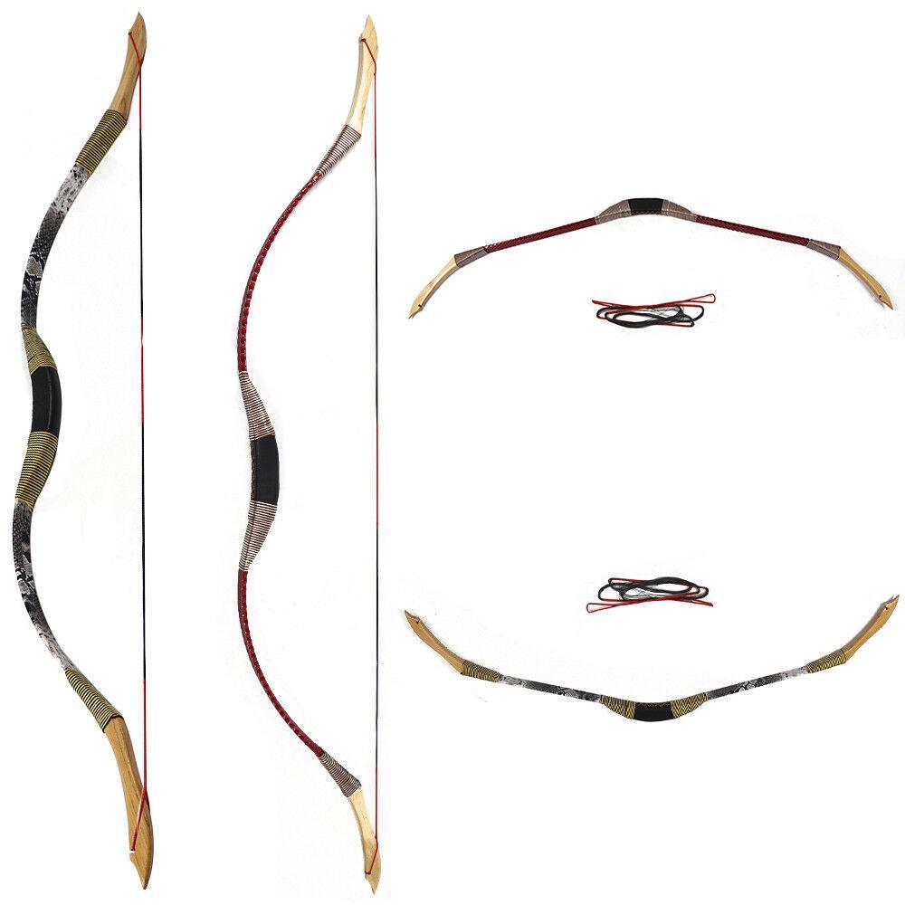 30lb práctica tradicional Tiro con Arco Recurvo Arco Longbow caza de entrenamiento de destino