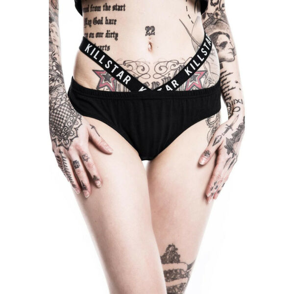 Killstar Gothic Goth Punk Damen Slip Unterhose Höschen – Rise N Rule Cut-Out