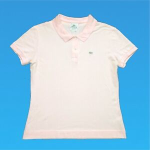 Womens-Lacoste-Polo-Shirt-Large-Pink-Short-Sleeve