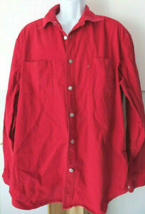 Red-LEVI-039-S-Levi-Strauss-Men-039-s-Button-Shirt-Vintage-Silver-Red-Tab-XL-Long-Sleeve