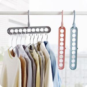 Details About GC  Durable Space Saving Clothes Hook Hanger Closet Organizer  Storage Rack Relia