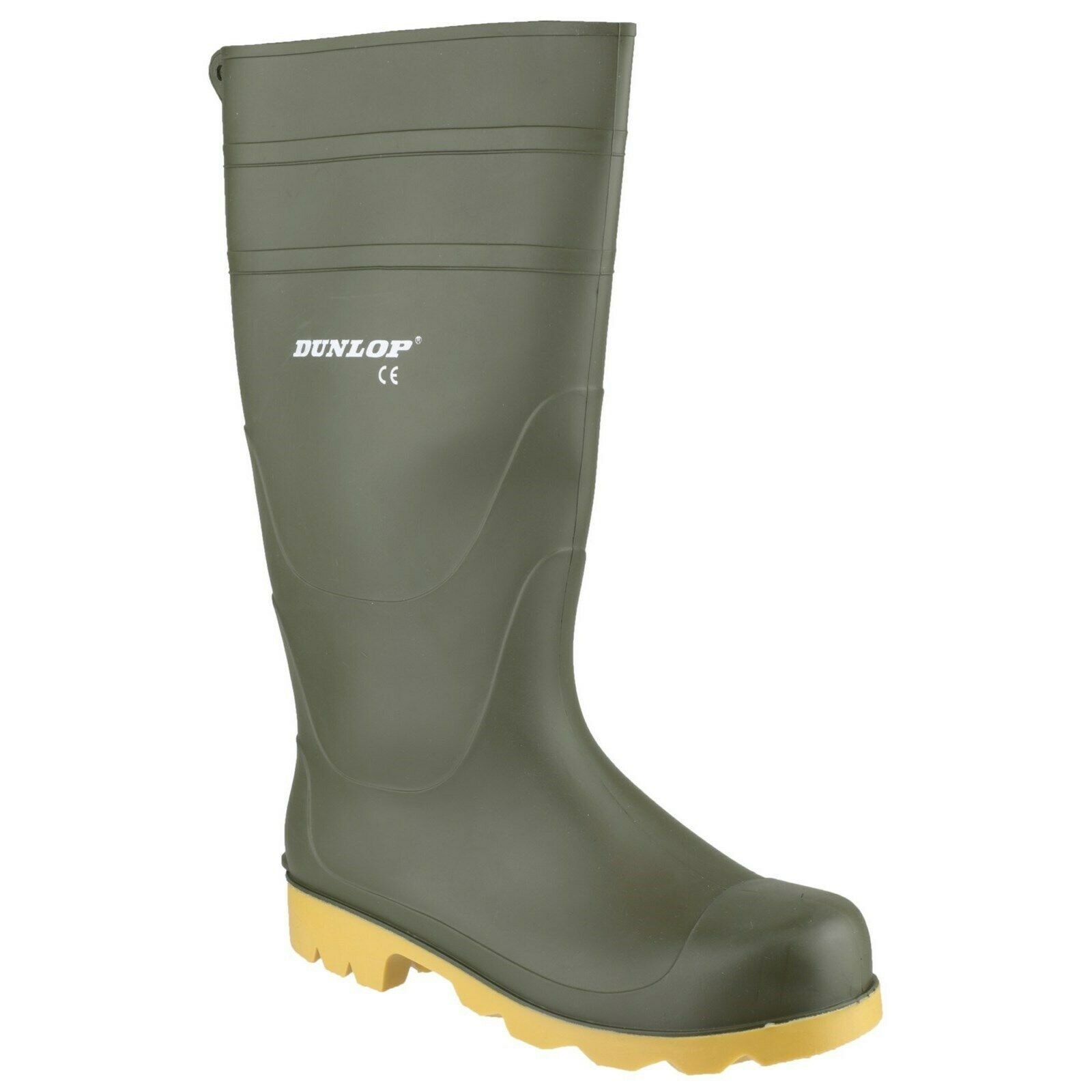 Dunlop Universal Non-Safety Wellington Boots Green (Sizes 6-12)