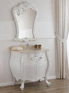 Kommode Und Spiegel Anderson Modern Barock Stil Badmöbel Gewölbt