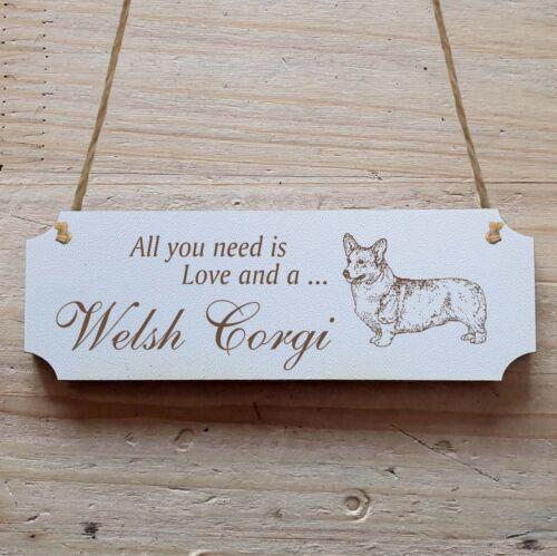 Türschild Dekoschild « Welsh Corgi » Hund