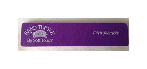 Soft Touch Sand Turtle Nail Files File Purple Fine Disinfectable120 Grit 3 Ebay