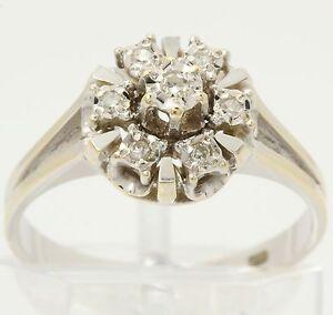 Diamantring-in-aus-14kt-Weiss-Gold-mit-Diamanten-Finger-Ring-Diamant-Schmuck