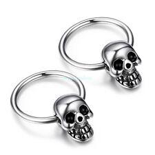 Fashion Punk Style Stainless Steel Skull Boy's Men's Huggie Earrings Cool Look