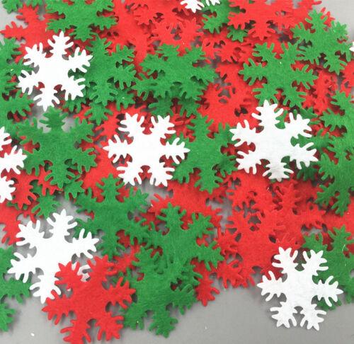 500pcs Mixed color Felt Snowflake shape Kid/'s Appliques Craft Decorative 30mm