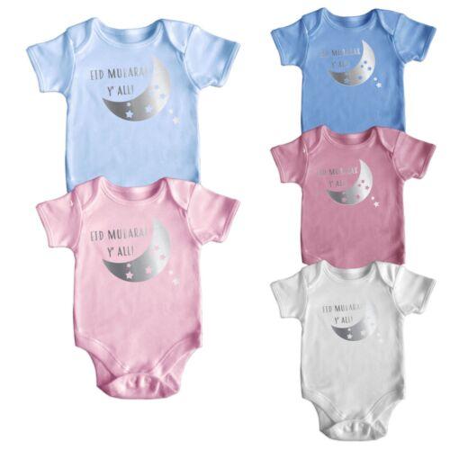 Islamic Eid Mubarak Y/'All Short Sleeve Baby Bodysuit Baby Grows Newborn 0-18 M