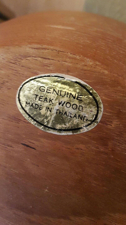 Holz Obstschale.ZEAK WOOD.MADE WOOD.MADE WOOD.MADE IN THAILAND.15 CM HOCH. | Bestellungen Sind Willkommen  3a987f