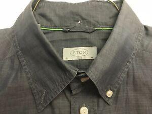 ETON-SLIM-GRAY-100-COTTON-DRESS-SHIRT-EXC-COND-SZ-XL-EU-43