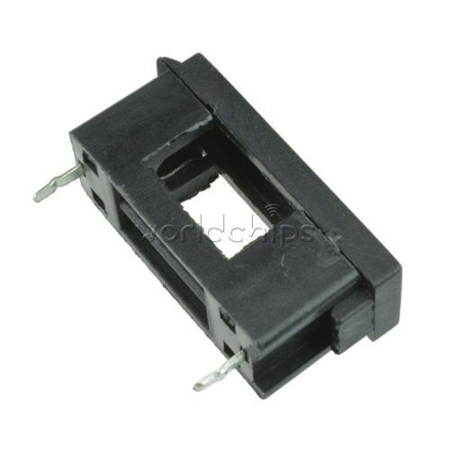50PCS PCB Mount BLX-A type FUSE HOLDER 5MM X 20MM 15A//125V SOLDER HOLDERS